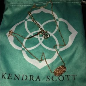 Kendra Scott Rose Gold Druzy Elisa Necklace